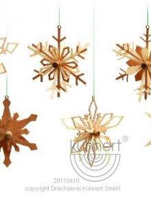 Behang 6 Schneeflocken, 3D