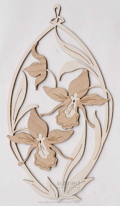 Fensterbild Orchideen