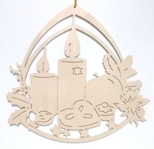 Fensterbild Adventsschale