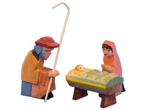Helbig-Krippenfiguren, die heilige Familie, 3tlg