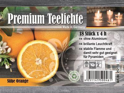 Duft-Teelichter, Orange