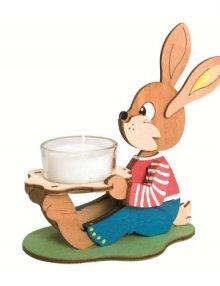 Bastelset Teelichthalter Osterhase, sitzend