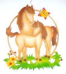 Fensterbild Pferde