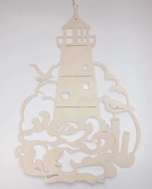 Fensterbild Leuchtturm