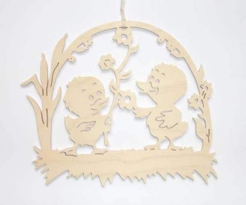 Fensterbild Kükenpaar