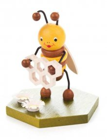 Sammelfigur Biene mit Honigwabe