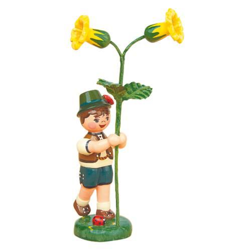 Blumenkind Junge mit Schlüsselblume
