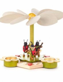 Frühlingspyramide mit Käfermusikanten