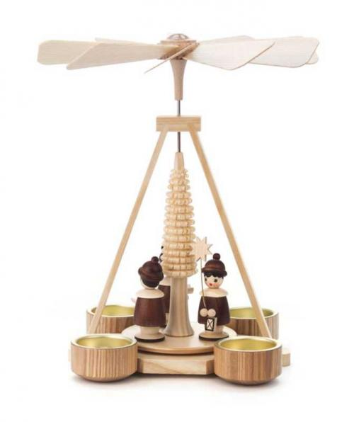 Teelicht Pyramide mit Kurrende