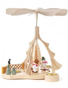 Schneemann Pyramide für Teelichter