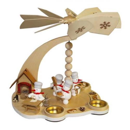 Schneemannpyramide Weihnachtsbäckerei