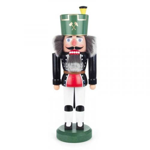 Nussknacker Bergmann mit grünem Hut