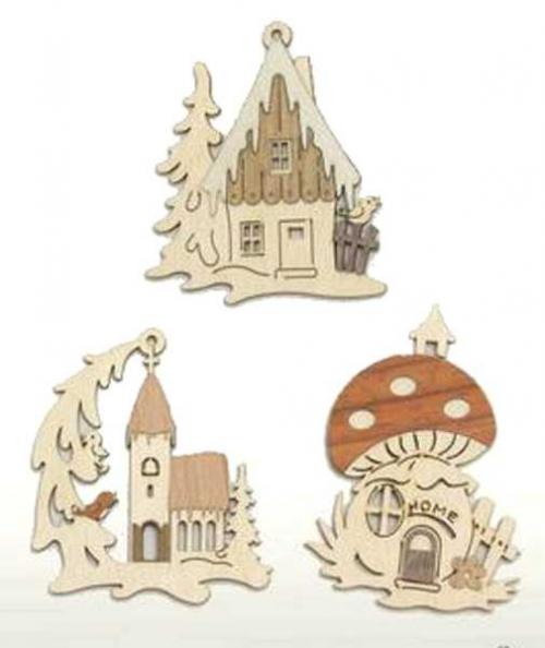 Behang Winterhäuser, Set 6tlg