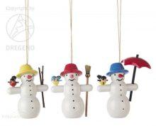 Behang Schneemänner mit Vogel, 3-teilig