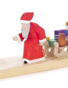 Kerzenhalter Weihnachtsmann mit Schlitten
