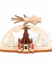 Mini-Schwibbogen mit Kirchenpyramide