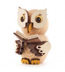 Mini-Eule mit Buch