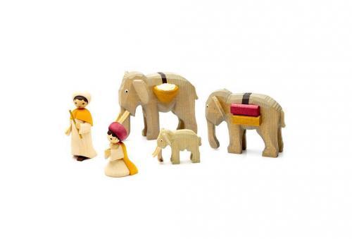 Elefantentreiber, gebeizt
