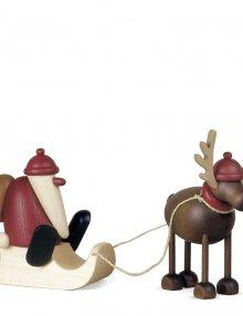 Weihnachtsmann mit Rentier Rudolf