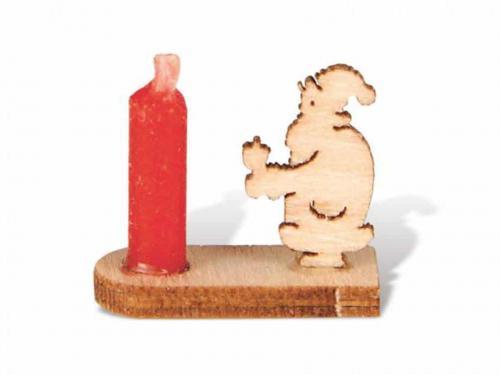 Miniatur Kerzenhalter Weihnachtsmann