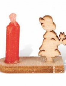 Miniatur Kerzenhalter Mädchen