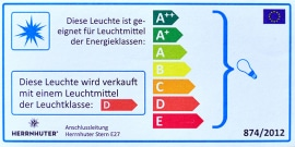 Herrnhuter Beleuchtungsset für Kunststoffsterne 40-70cm A4-A7, weißes Kabel