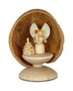 Miniatur Engel in Walnussschale, stehend