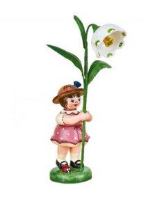 Blumenkind Mädchen mit Märzenbecher