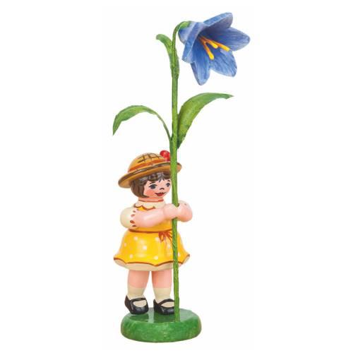 Blumenkind Mädchen mit Blauglöckchen