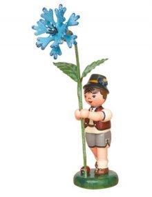 Blumenkind Junge mit Kornblume