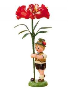 Blumenkind Junge mit Amarylis