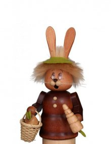 Räuchermann Miniwichtel Häsin mit Karotte