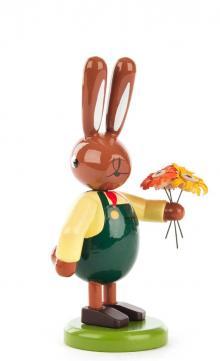 Hasenmann mit Blumenstrauß, klein