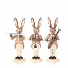 Hasentrio Querflöte, Klarinette und Fagott, natur