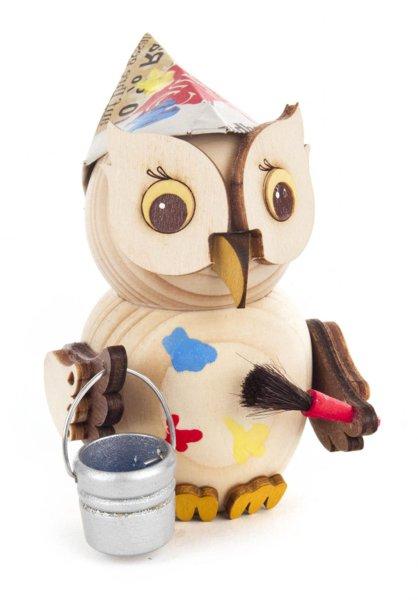 Holzfigur Mini-Eule Maler