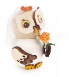 Holzfigur Mini-Eule Braut