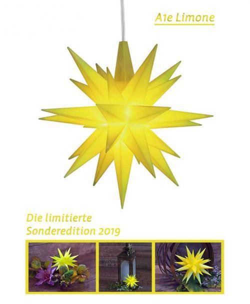 Herrnhuter Stern Kunststoff 13cm limone   Sonderedition 2019