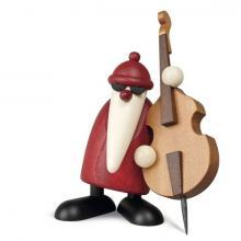 Weihnachtsmann mit Kontrabass