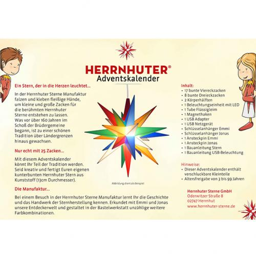 Herrnhuter Adventskalender Rückseite Text