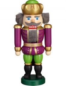 Nussknacker König purpur-grün, 20cm
