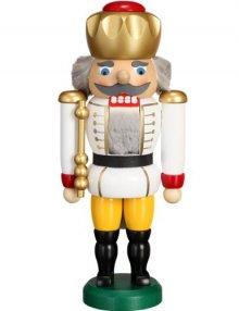 Nussknacker König weiss, 25cm