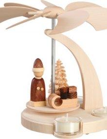 Bogenpyramide Weihnachtsmann mit Schlitten, klein