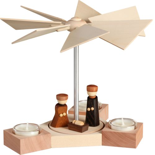 Teelichtpyramide Hexagonum, Christi Geburt