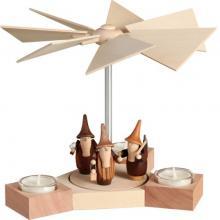 Teelichtpyramide Hexagonum, Gnome