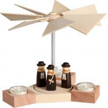 Teelichtpyramide Hexagonum, Weihnachtssänger