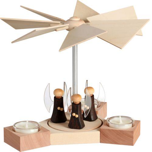 Teelichtpyramide Hexagonum, Engel