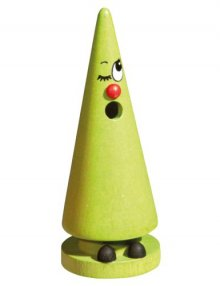 Crottendorfer Räucherfigur Mini-Ziegenbein, hellgrün