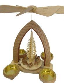Pyramide für Teelichter Wildschweingruppe