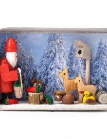 Zündholzschachtel Weihnachten im Winterwald