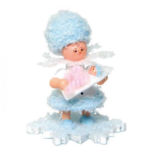 Schneeflöckchen mit Baby Mädchen